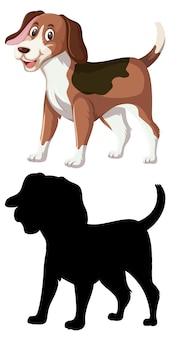 Cor e silhueta de cachorro beagle