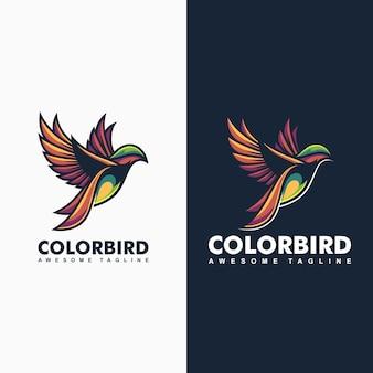 Cor-ilustração do conceito do pássaro