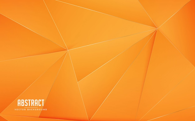 Cor laranja geométrica de fundo abstrato