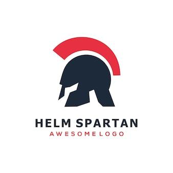 Cor lisa do design do logotipo da spartan