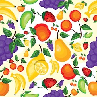 Cor lisa simples frutas sem costura de fundo