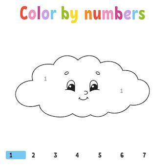 Cor por números.
