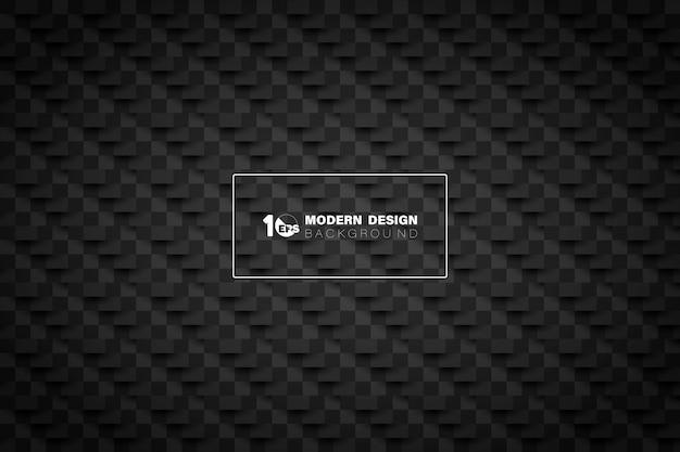 Cor preta abstrata de fundo de design de tecnologia de corte de papel.