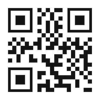 Cor preta do vetor do código qr isolada no fundo para pagamento móvel e transporte de cidade de identidade