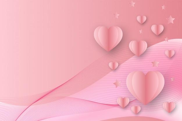 Cor rosa abstrato coração forma dos namorados fundo