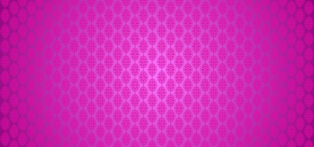 Cor rosa padrão europeu ornamental fundo floral