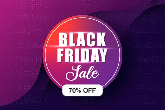 Cor roxa, preta, forma de círculo de venda na sexta-feira, fundo limpo