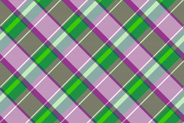 Cor verde roxo verificar padrão sem emenda de textura de tecido