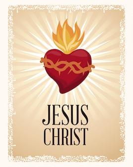 Coração abençoado do coração sagrado