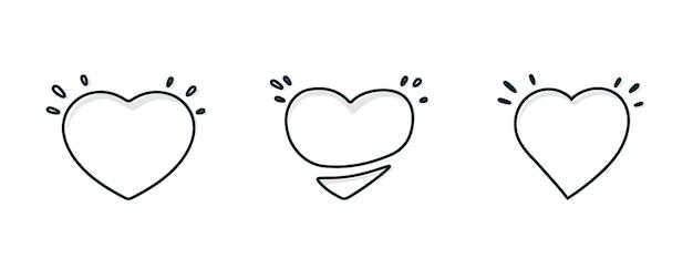 Coração abstrato com ilustração de sombra