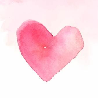 Coração aquarela rosa