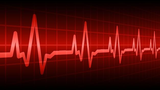 Coração bate fundo cardiograma