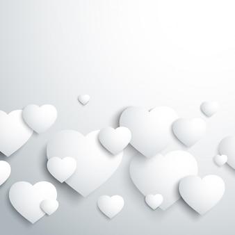 Coração branco elegante
