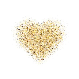Coração brilhante com brilhos e pó de estrelas.