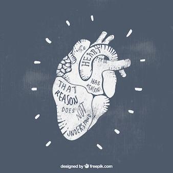 Coração carimbado