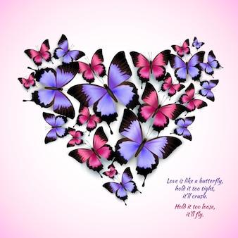 Coração com borboletas