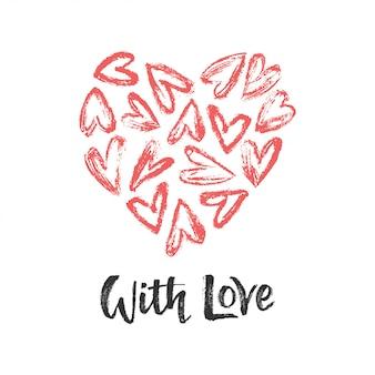 Coração com coração e amor