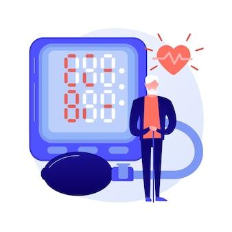 Coração com ícone colorido do estetoscópio. cardiologia, pulsação, eletrocardiograma. doença cardíaca e tratamento. equipamento médico, instrumento. cuidados de saúde. ilustração vetorial de metáfora de conceito isolado