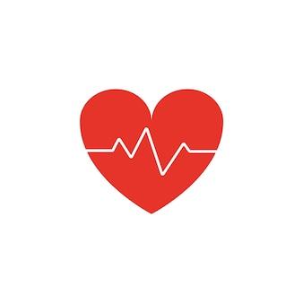 Coração com ícone de eletrocardiograma gráficos vetoriais