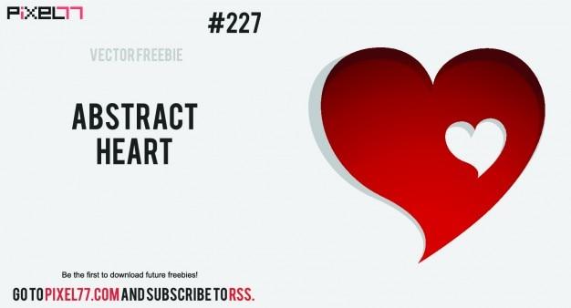 Coração com o coração pequeno buraco em forma