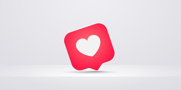 Coração como ícone, ilustração plana