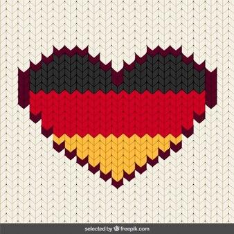 Coração costurado alemanha