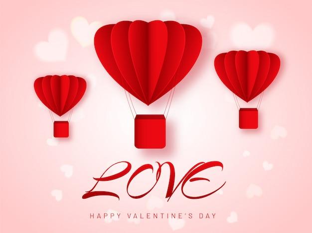 Coração criativo em forma de balões de ar quente