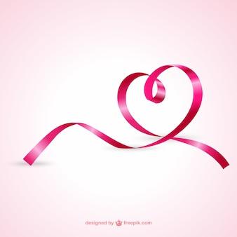 Coração da fita rosa
