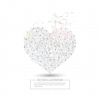 Coração de amor desenhada digitalmente