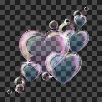 Coração de bolha brilhante