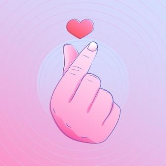 Coração de gradiente