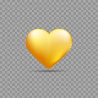 Coração de ouro com sombra