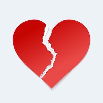 Coração de papel quebrado
