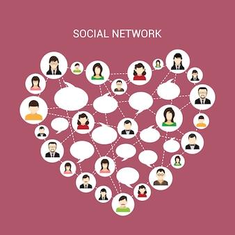 Coração de rede social