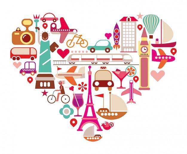 Coração de viagem