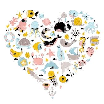 Coração do mundo subaquático
