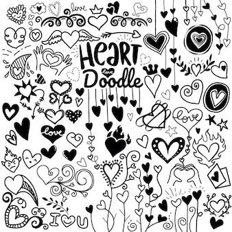 Coração doodle