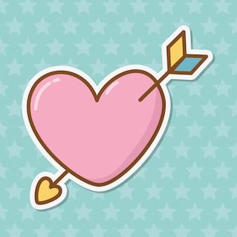 Coração e flecha