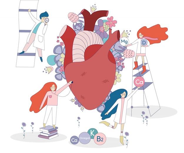 Coração e médicos saudáveis