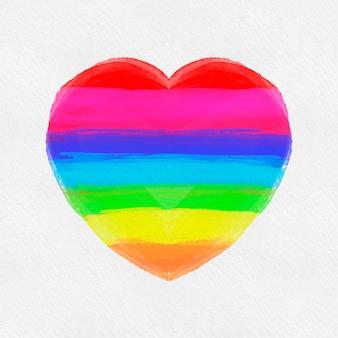 Coração em aquarela de orgulho