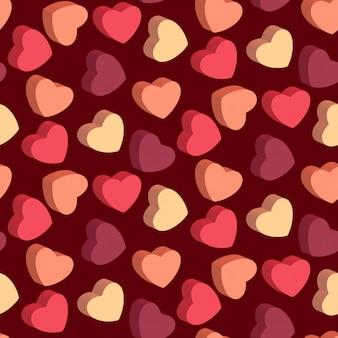 Coração em forma de doces padrão sem emenda dos namorados
