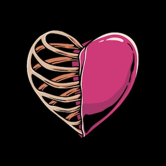 Coração esqueleto
