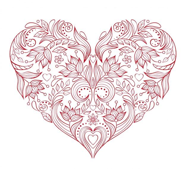 Coração floral valentines