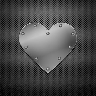 Coração metálico