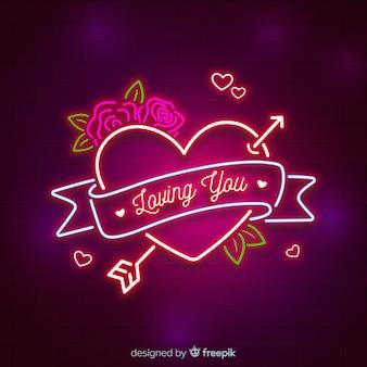 Coração néon