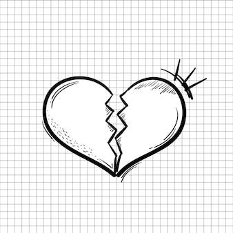 Coração quebrando em pedaços