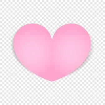 Coração rosa isolado. projeto do dia dos namorados.