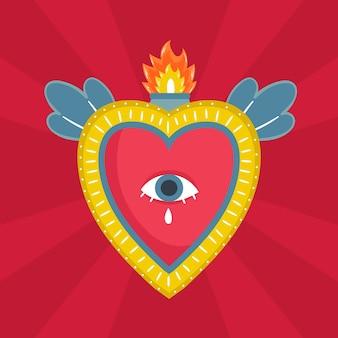 Coração sagrado ilustrado