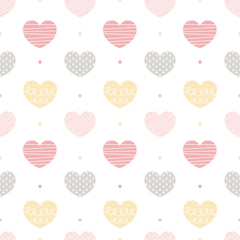Coração sem costura de fundo