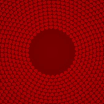 Coração vermelho circular fundos estampados
